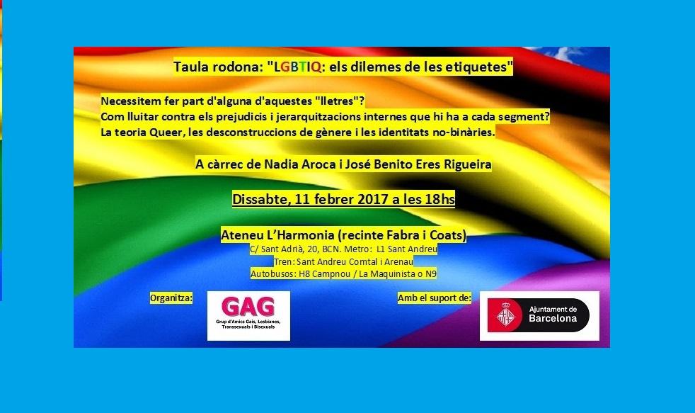 """Taula rodona: """"LGBTIQ: els dilemes de les etiquetes"""""""