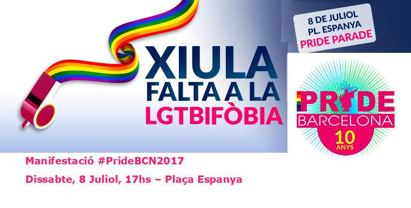 Manifestación #PrideBCN2017