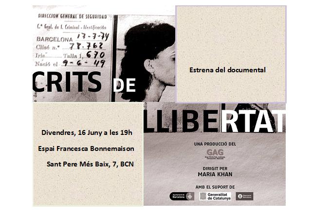 """Estrena del Documental """"Crits de Llibertat"""""""