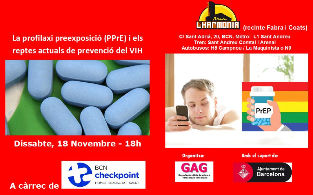 La profilaxi preexposició (PPrE) i els reptes actuals de prevenció del VIH