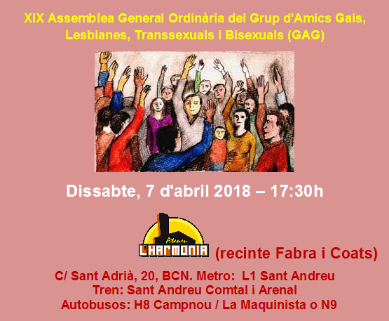 Assemblea GAG 2018 – 7 d'abril