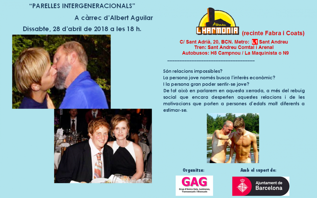 Parelles Intergeneracionals -28 d'abril 2018 – 18h