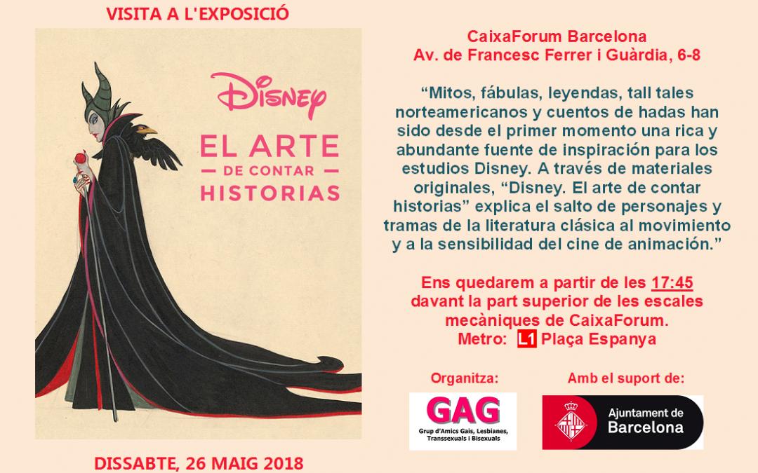 """Visita a l'Exposició """"Disney – l'art d'explicar històries"""" – 26 maig – 17:45"""