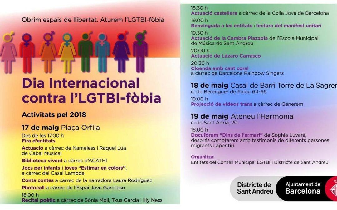 Activitats- Dia internacional contra l'LGTB-fòbia: 17, 18 i 19 Maig 2018