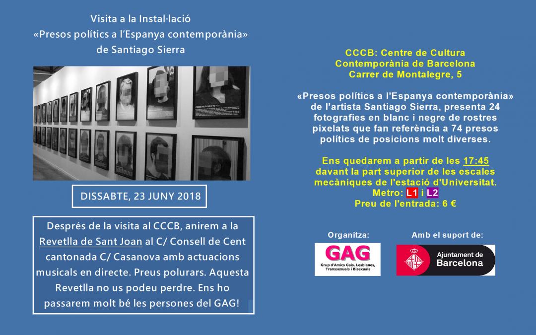 Visita a la Instal·lació «Presos polítics a l'Espanya contemporània» – 23 Juny – 18hs