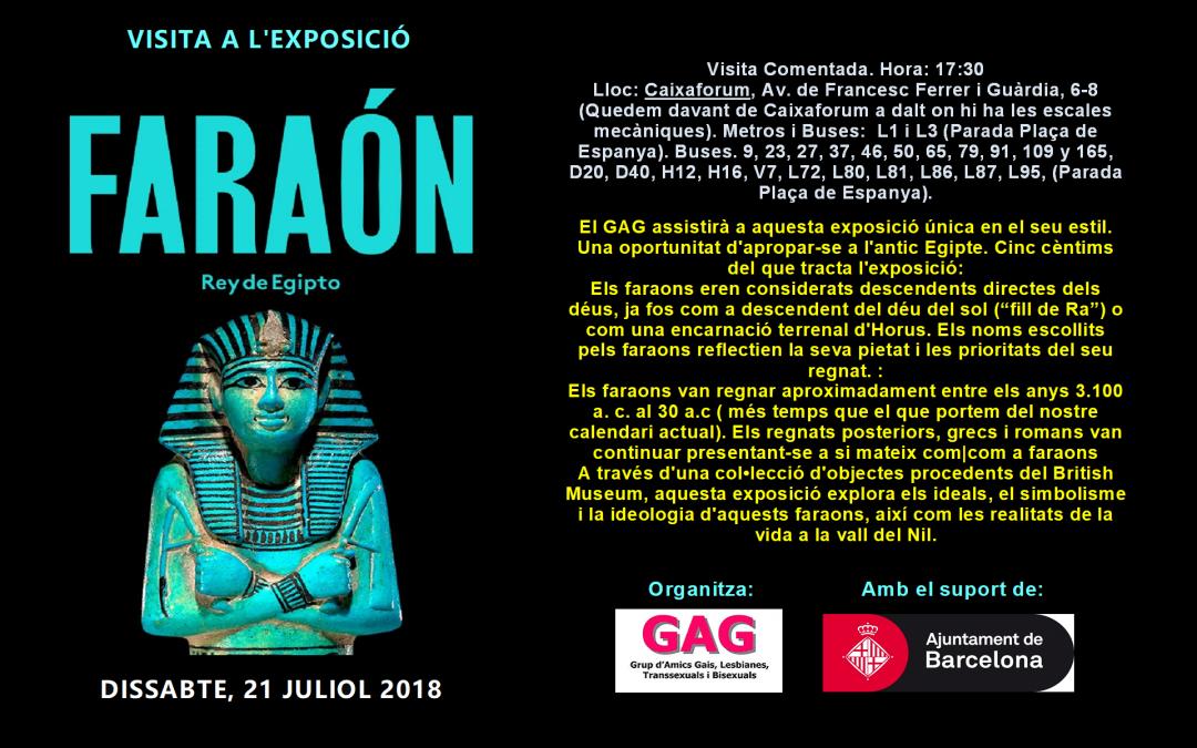 Visita a l'Exposició: Faraó, rei d'Egipte. 21 juliol 2018