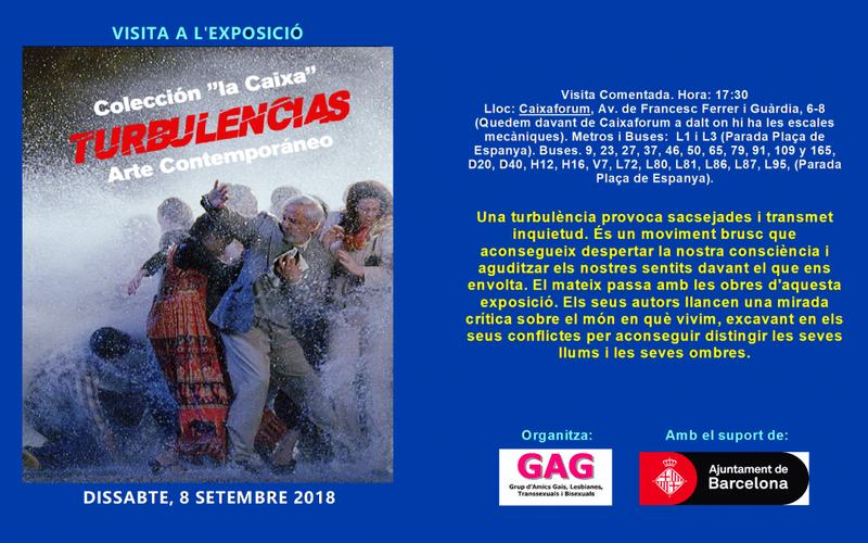 Visita a l'Exposició – Turbulències – 8 Setembre 2018