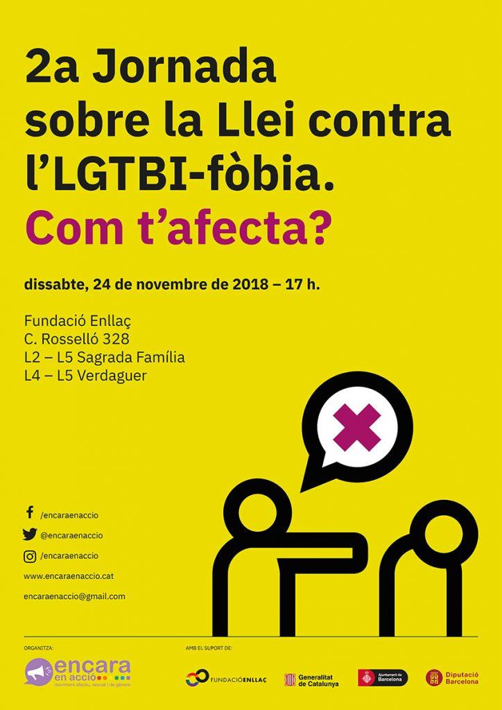Cartell 2a Jornada sobre la Llei contra l'LGTBI-fobia