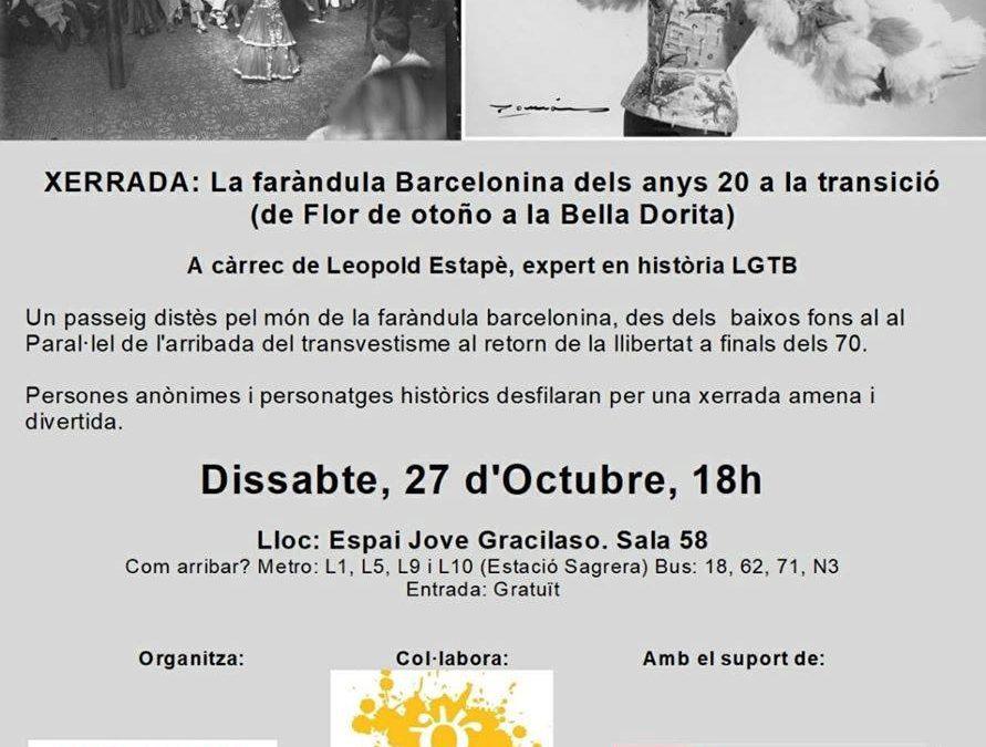 La Faràndula Barcelonina, anys 20 a la transició – 27 Octubre – 18h