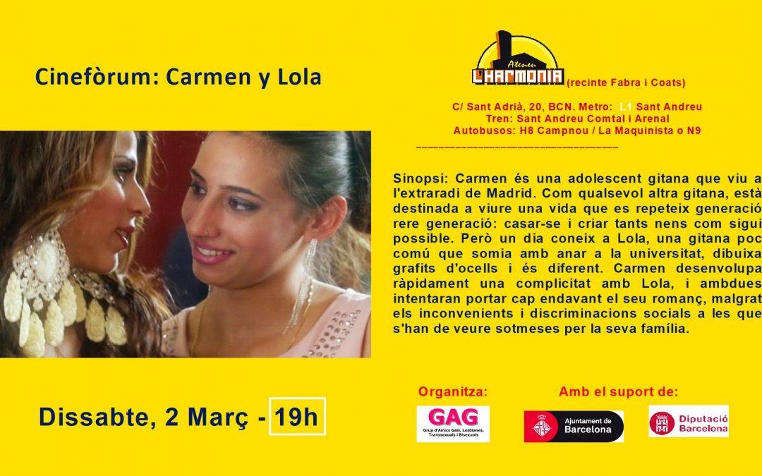 Cineforum – Carmen y Lola – 2 Marzo – 19h