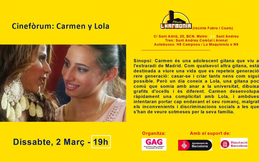 Cinefòrum – Carmen i Lola – 2 Març – 19h