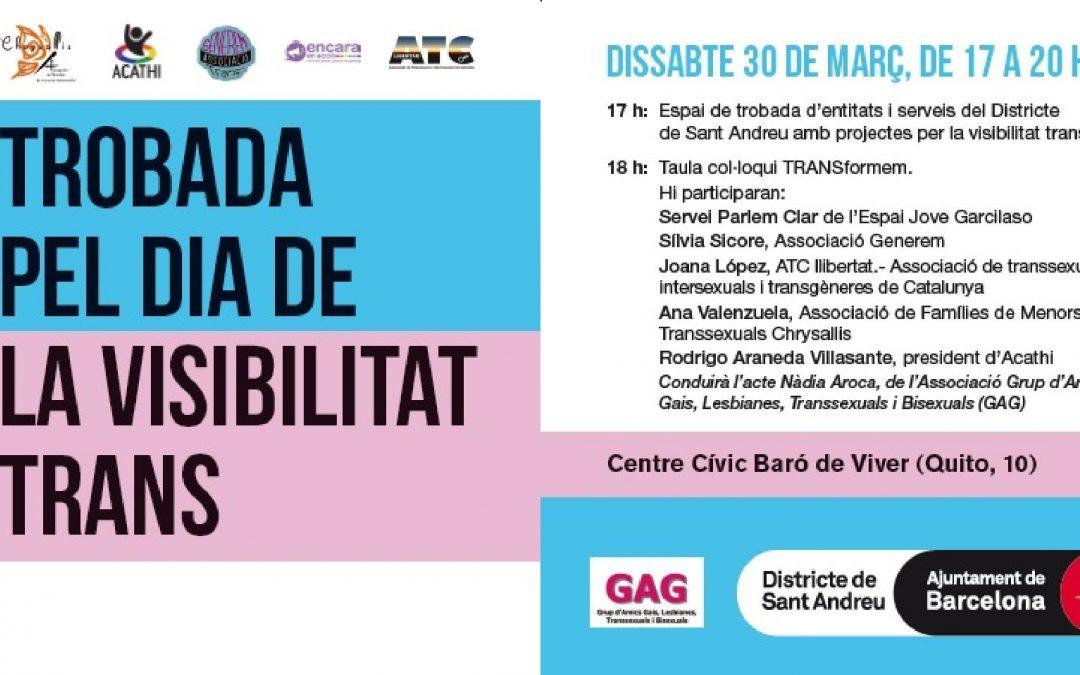 Trobada pel Dia de la Visibilitat Trans – 30 Març – 17 a 20h