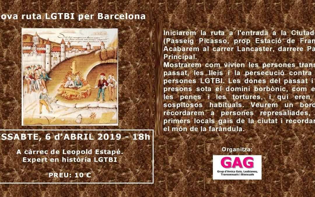 Nova ruta LGTBI per Barcelona – 6 abril