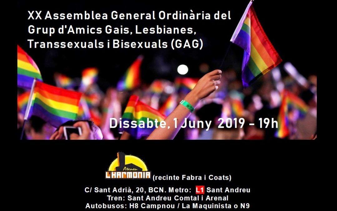Asamblea GAG 2019 – 1 Junio – 17:30h