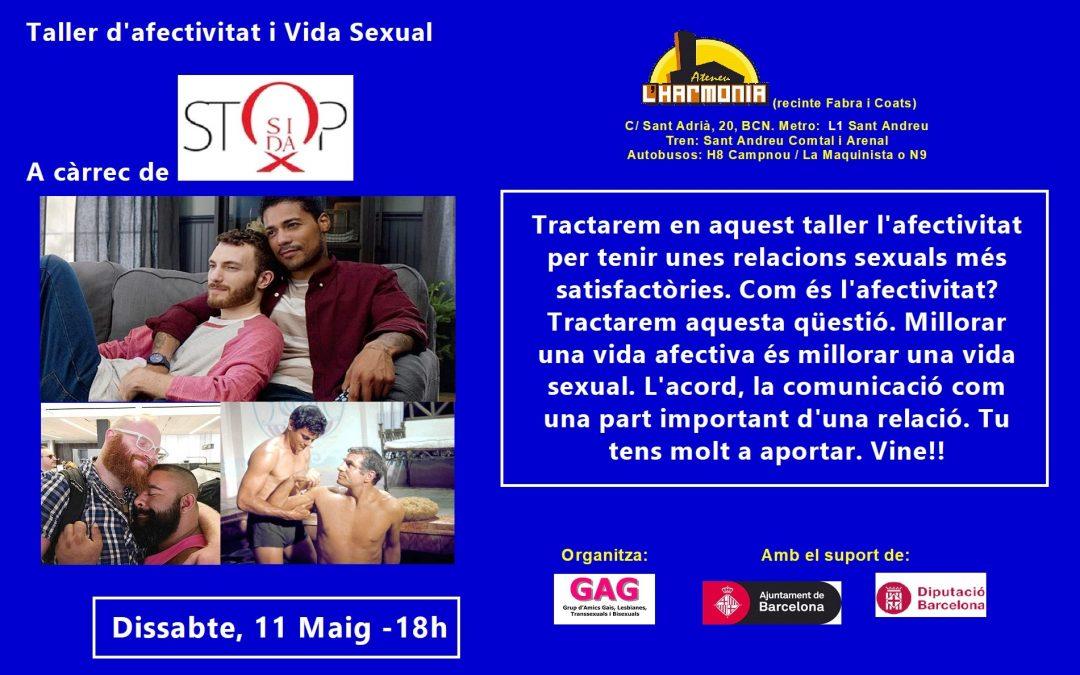 Taller d'Afectivitat i vida sexual – 11 Maig – 18h
