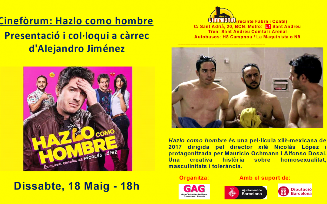 Cinefòrum – HazloComoHombre – 18 Maig – 18h