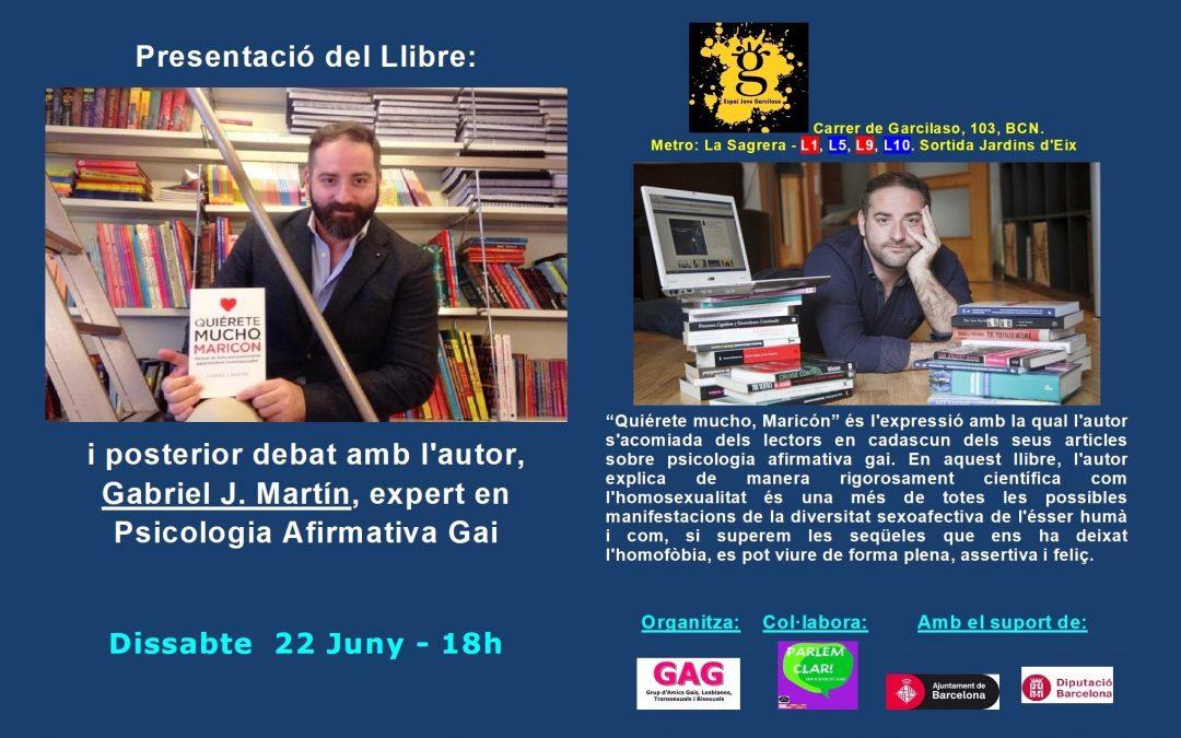 Presentació – Llibre – Gabril J. Martin. 22 Juny – 18h