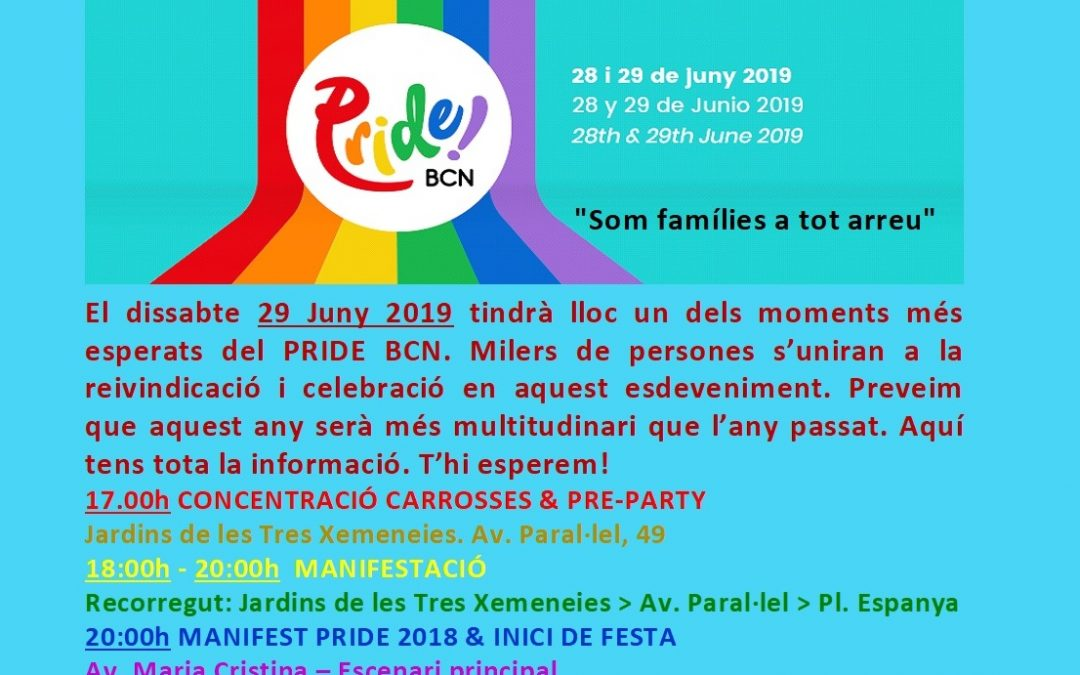 #PrideBCN2019 – 29 Juny