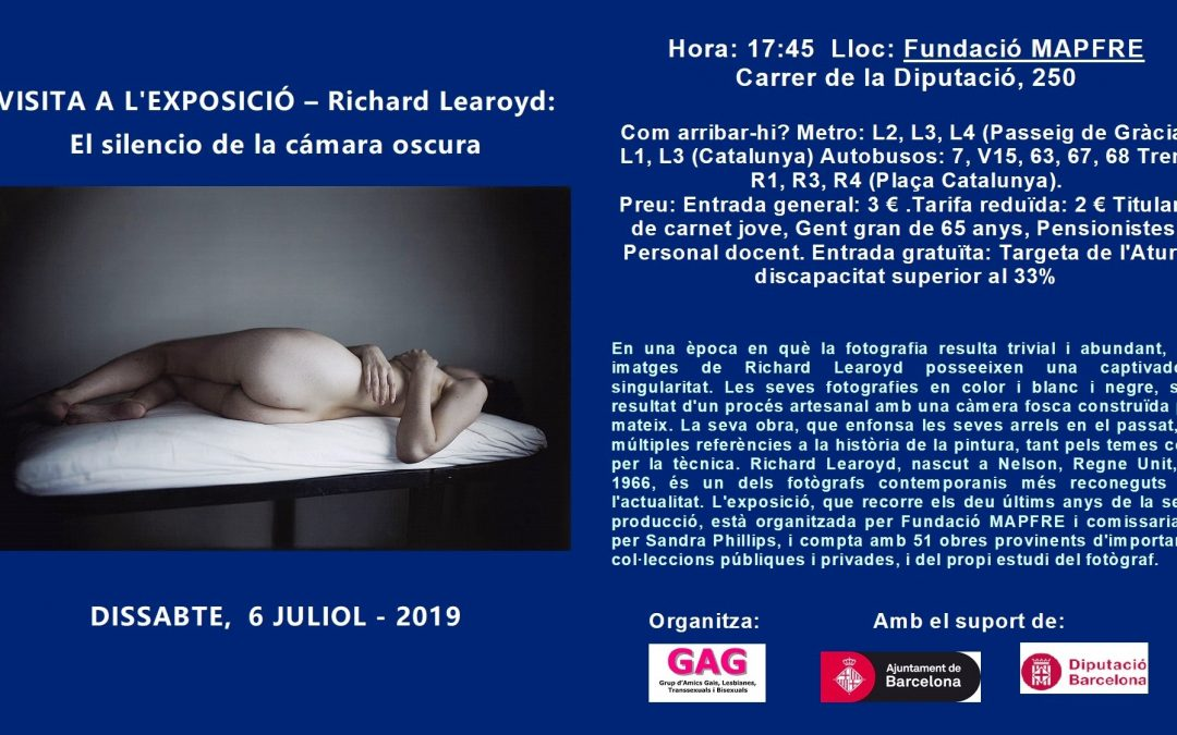 Visita a la Exposición – Richard Learoyd – 6 Julio