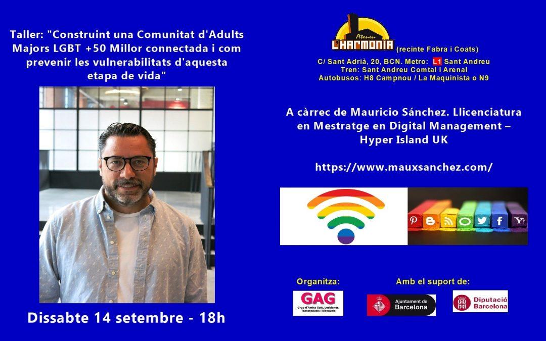 Taller: Construint una Comunitat d'Adults Majors LGBT. 14 setembre – 18h