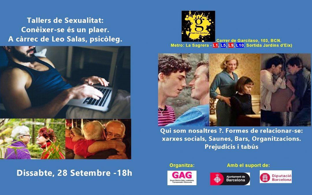Tallers de Sexualitat – 28 setembre 2019 – 18 h