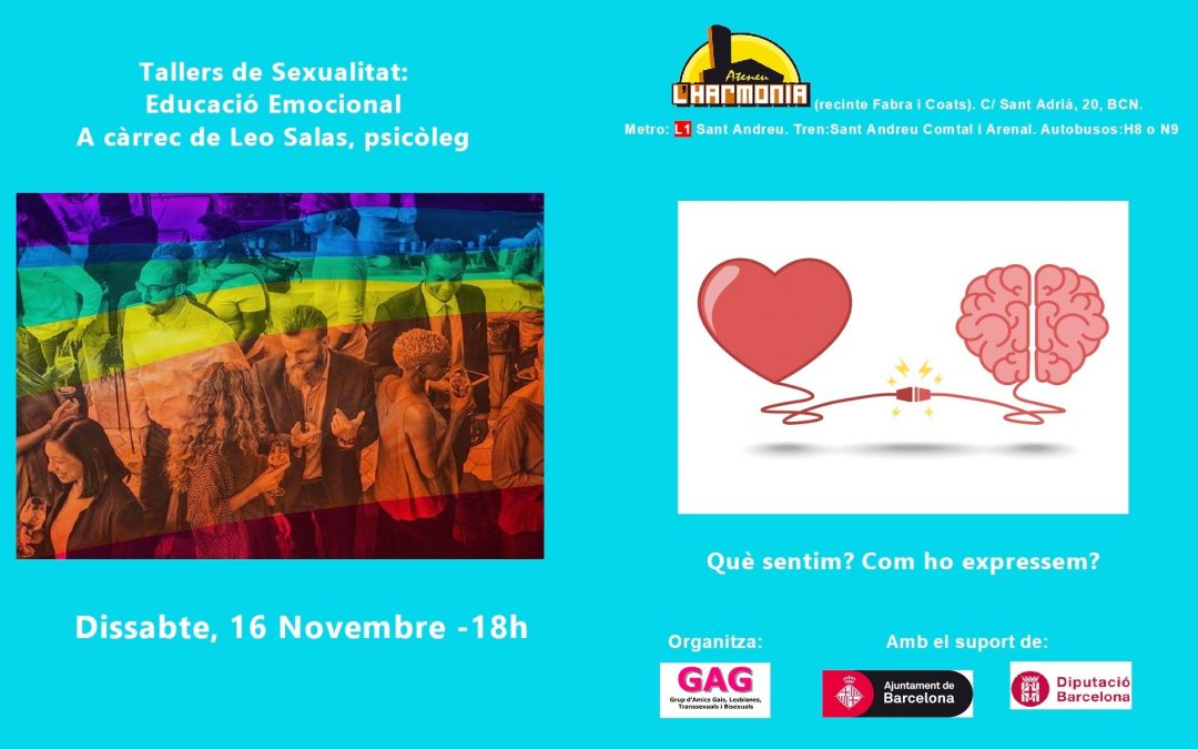 Taller: Educació Emocional – 16 novembre 18h