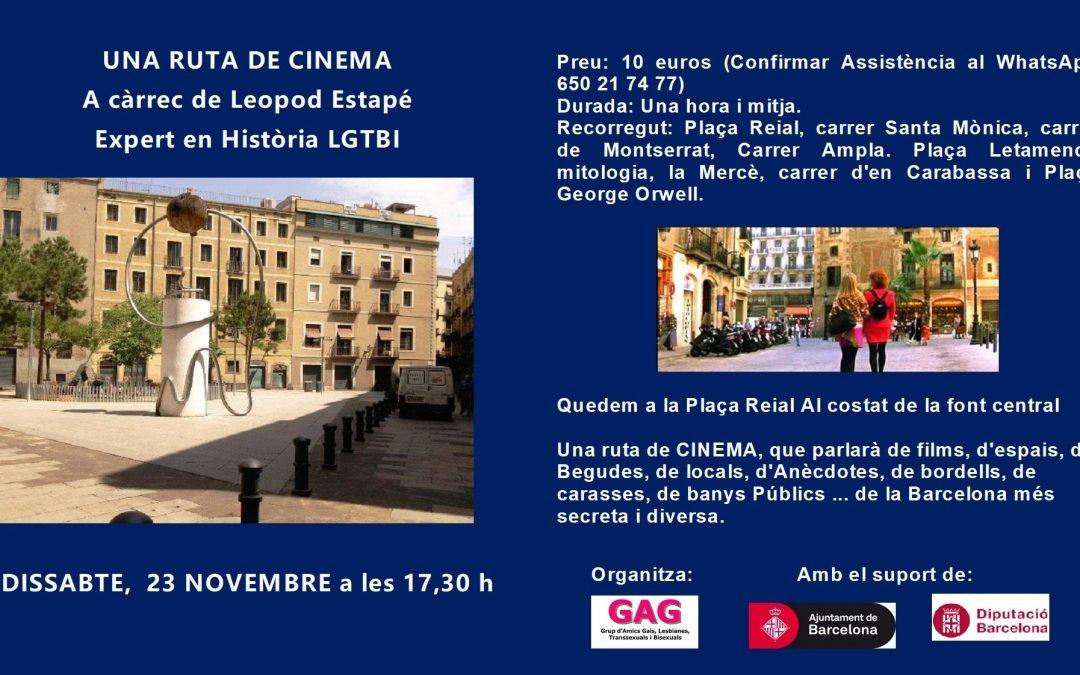 Una Ruta de Cinema – 23 Noviembre – 17,30h