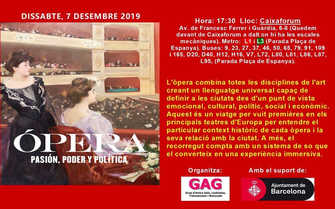 Visita a l'Exposició: Òpera. Desembre 7 – 17,30