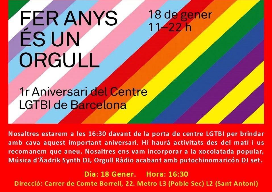 Aniversari – Centre LGTBI de BCN – 18 Gener: 16,30