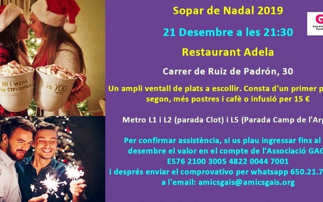 Sopar de Nadal – 21 Desembre – 21:30