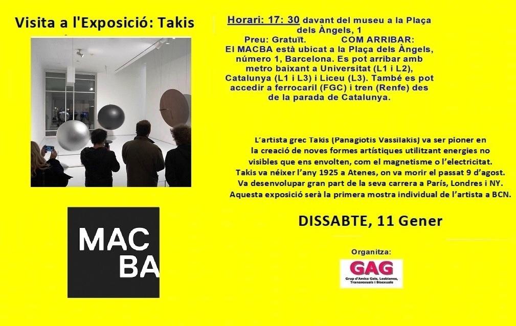 Visita a l'Exposició: Takis – 11 Gener, 17:30