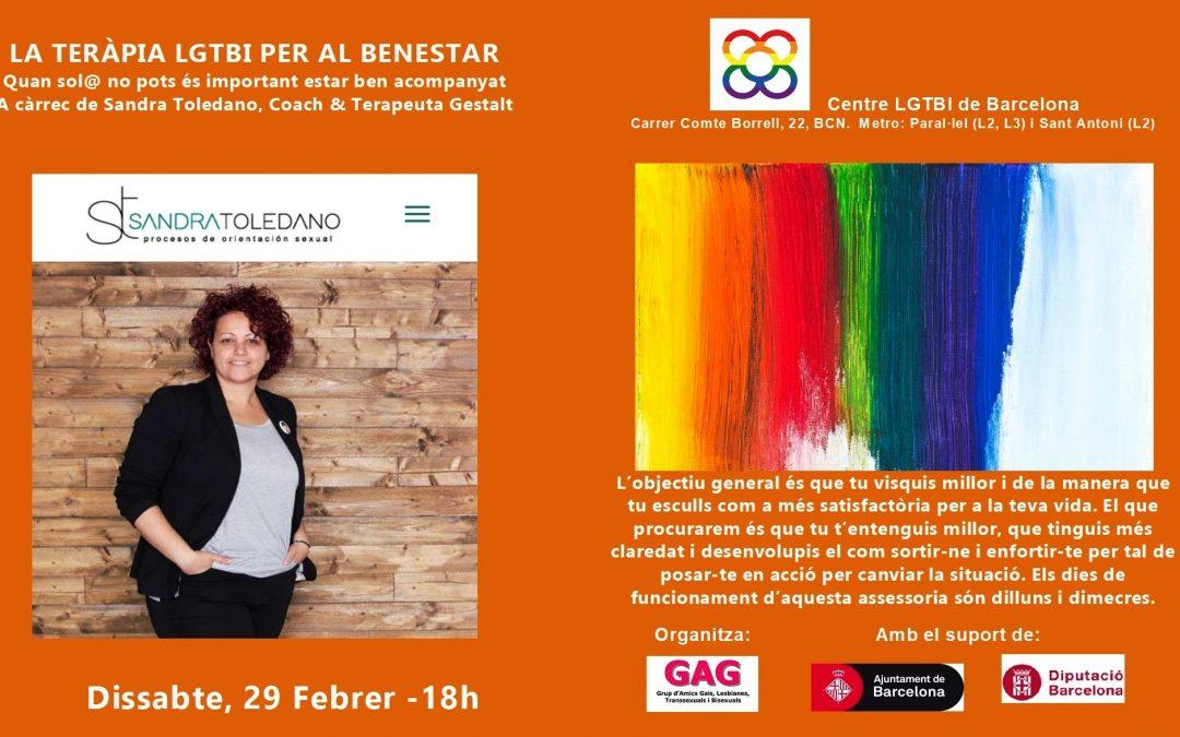 LA TERÀPIA LGTBI PER AL BENESTAR – 29 Febrer 18h