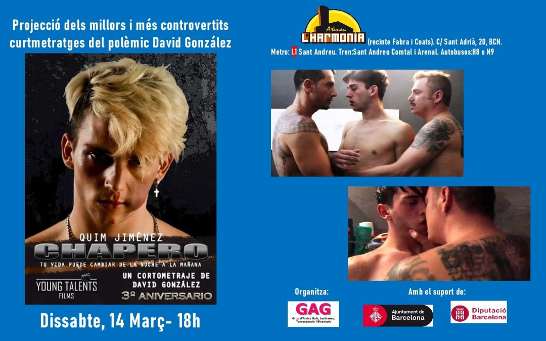 Proyección de cortometrajes de David González – 14 Marzo 18h
