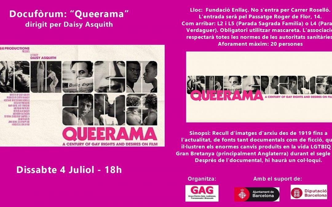 Docufórum: «Queerama» – Sábado 4 Julio – 18h