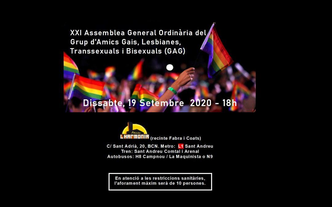 XXI Assemblea GAG – 19 Setember – 18h