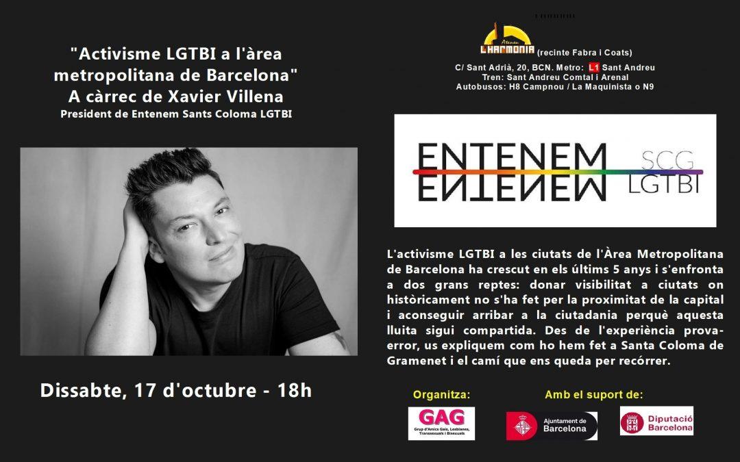 Charla: Activismo LGTBI. 17 de octubre – 18h