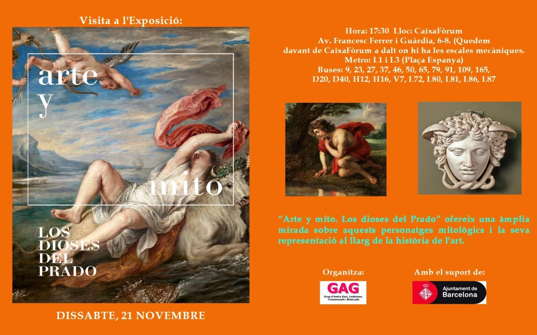 Visita a l'Exposició – Art i Mite – 21 Novembre – 17:30