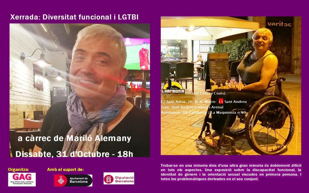 Xerrada: Diversitat Funcional i LGTBI. 31 d'Octubre – 18h