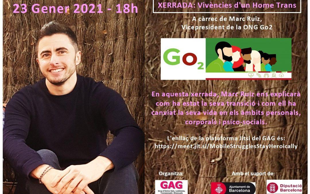 23 Gener 2021 – 18h. XERRADA: Vivències d'un Home Trans