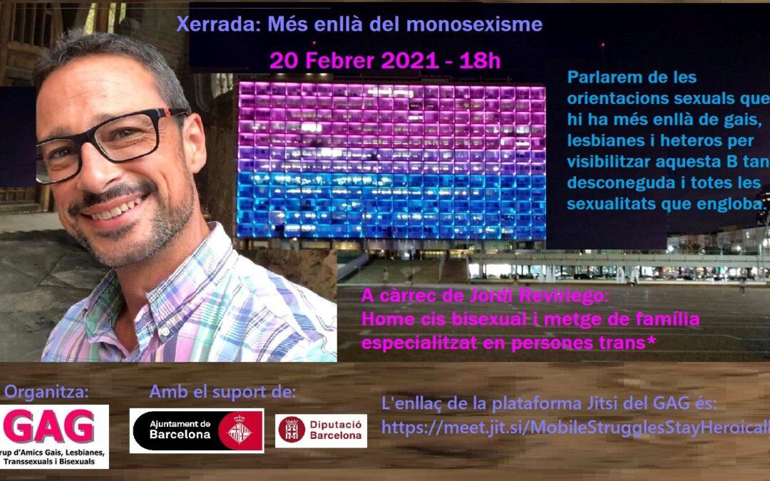 Más allá del monosexismo. 20 de febrero – 18h