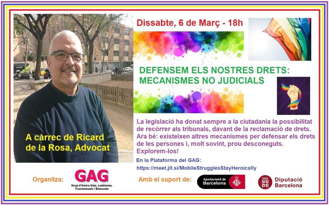 Dissabte, 6 Març – 18h: Xerrada de Ricard de la Rosa