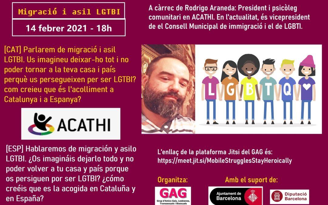 Migración y asilo LGTBI. 14 Febrero – 18h