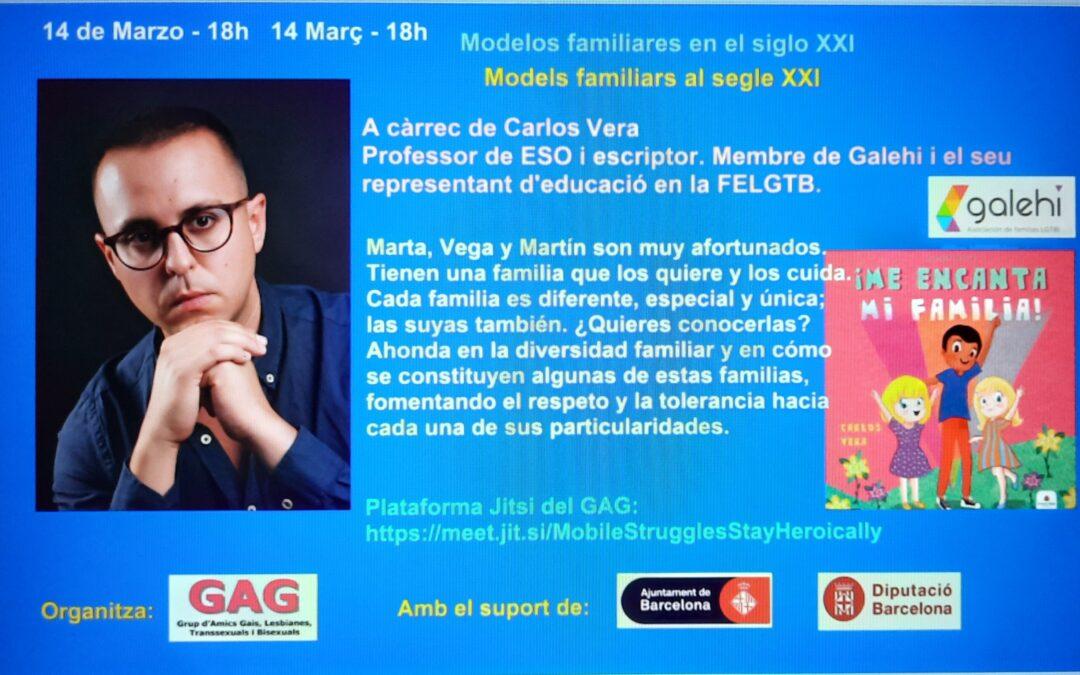 14 de Marzo – 18h – Charla de Carlos Vera sobre familias
