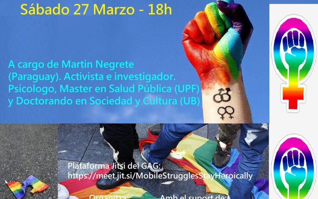 27 de març – 18h: Xerrada de Martin Negrete sobre Discursos d'odi cap a persones LGBTI