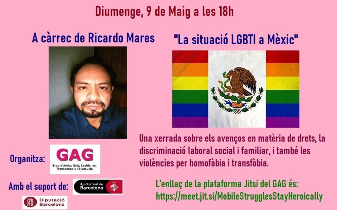 """Diumenge, 9 de Maig a les 18h: """"La situació LGBTI a Mèxic"""". A càrrec de Ricardo Mares"""