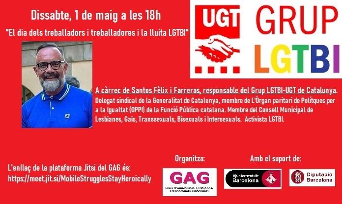 Dissabte, 1 de Maig – 18h. El dia dels treballadors i treballadores i la lluita LGTBI