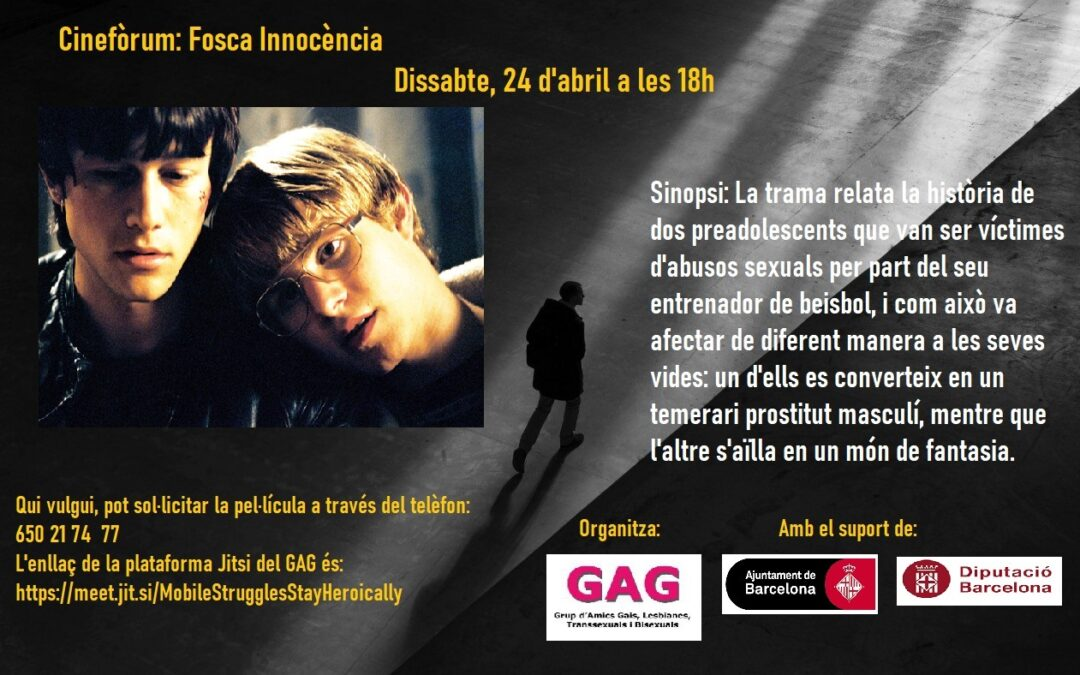 "Dissabte, 24 d'abril a les 18h: Cinefòrum ""Fosca Innocència"""
