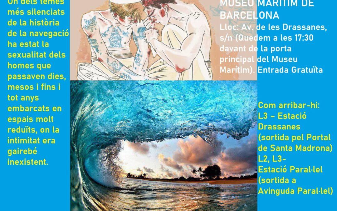 """Visita a l'Exposició """"EL DESIG ÉS TAN FLUID COM LA MAR"""". Dissabte, 3 Juliol a les 17:30. MUSEU MARÍTIM DE BARCELONA"""