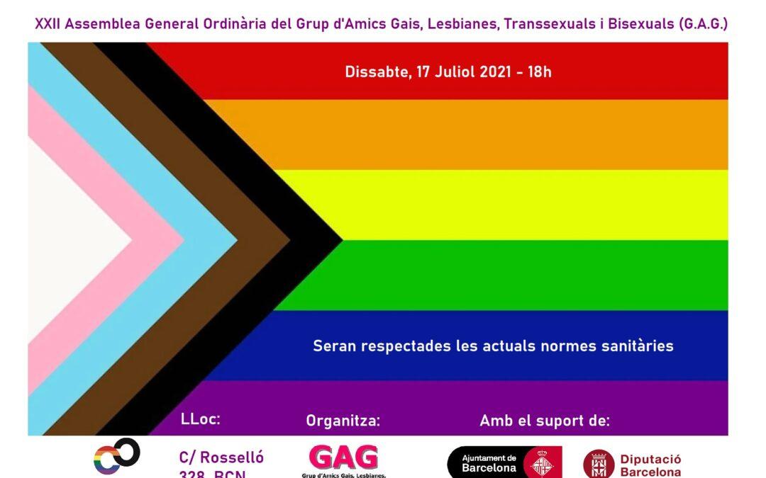 XXII Assemblea General Ordinària del GAG – Dissabte, 17 Juliol 2021 – 18h