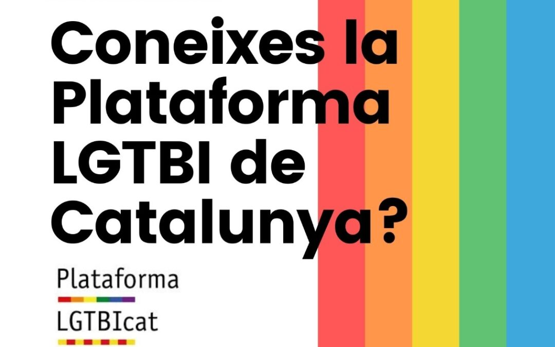 Dissabte, 16 d'Octubre – 18h: Plataforma LGTBI de Catalunya